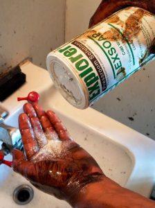 soap hands